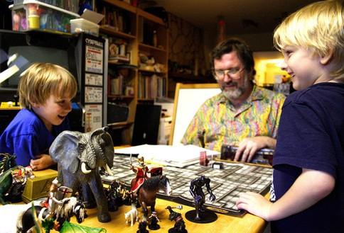 Uma partida de Advanced Dungeons & Dragons
