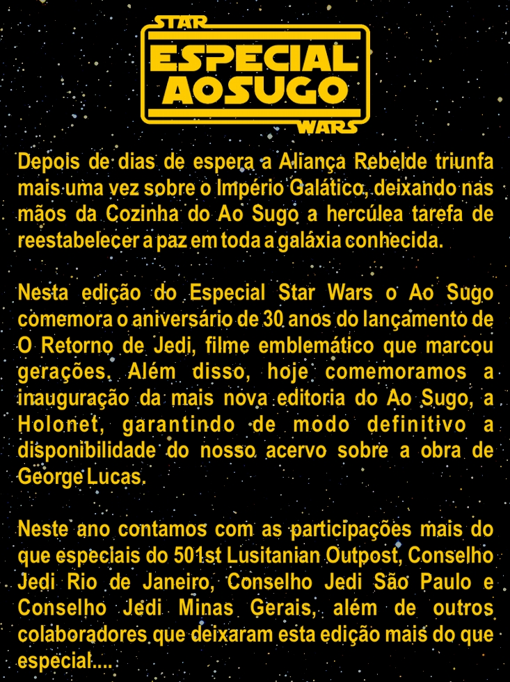 Especial Star Wars Ao Sugo
