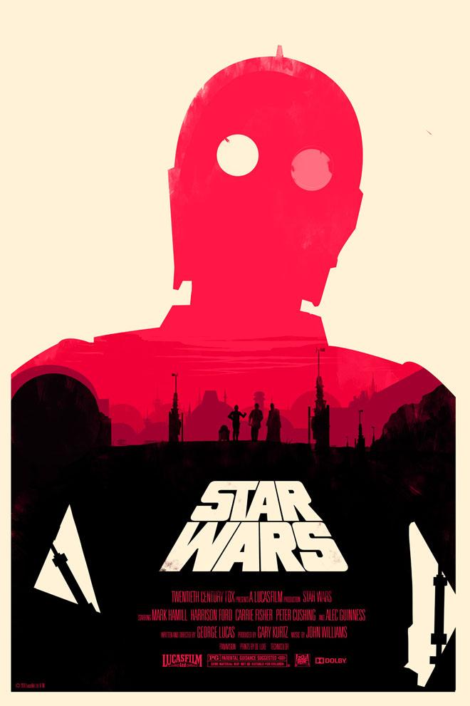 Star Wars - A New Hope, por Olly Moss (Mondo)